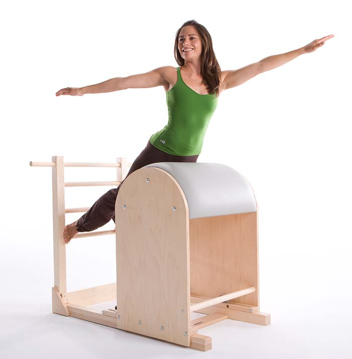 Pilates ladder barrel exercises