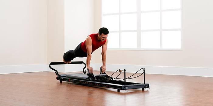 Pilates Reformer exercises for men