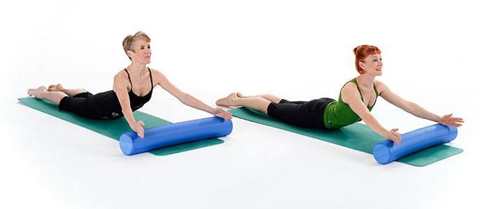Pilates roller exercises